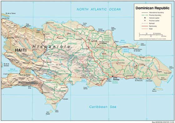CIA Map Of Dominican Republic 2004. Print/Poster (4833)